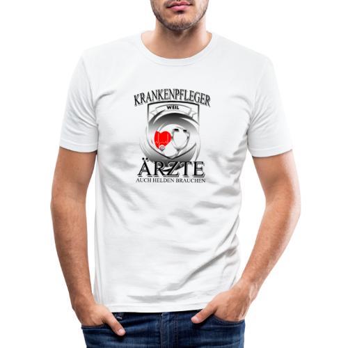 Krankenpfleger weil Ärzte auch Helden brauchen - Männer Slim Fit T-Shirt