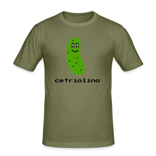 8-bit Pickle (Light T-Shirt) - Maglietta aderente da uomo