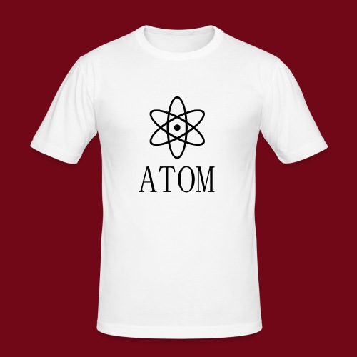 atom - Männer Slim Fit T-Shirt