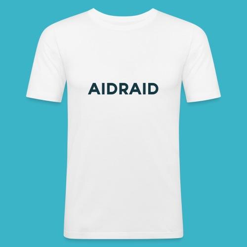 Aid Raid Simples Shirt Design - Männer Slim Fit T-Shirt