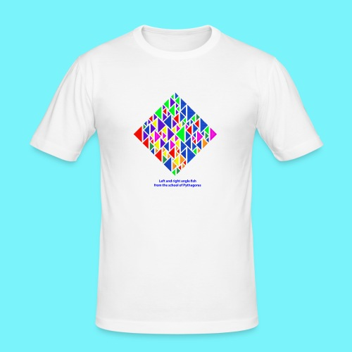 Left and right angle fish, school of Pythagoras - Men's Slim Fit T-Shirt