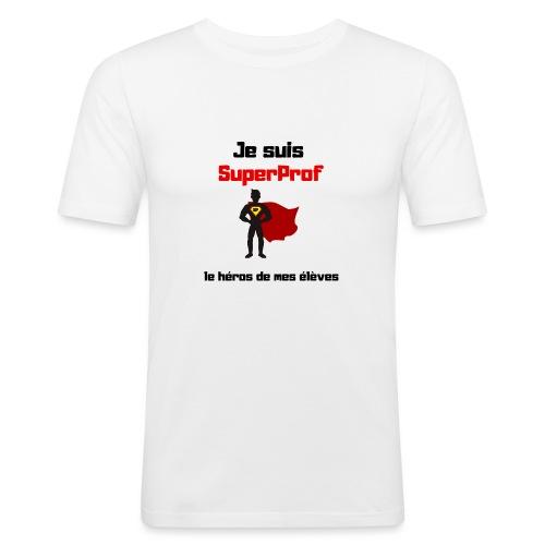 Je suis superprof - T-shirt près du corps Homme