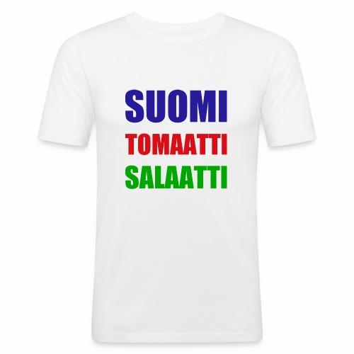 SUOMI SALAATTI tomater - Slim Fit T-skjorte for menn