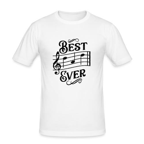 Best Dad Ever - old style - black - Slim Fit T-shirt herr