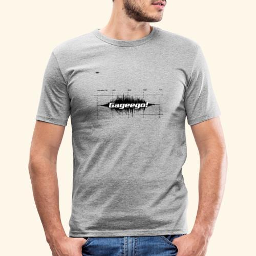 Gageego logga vit text - Slim Fit T-shirt herr
