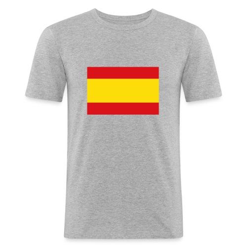 vlag van spanje - Mannen slim fit T-shirt