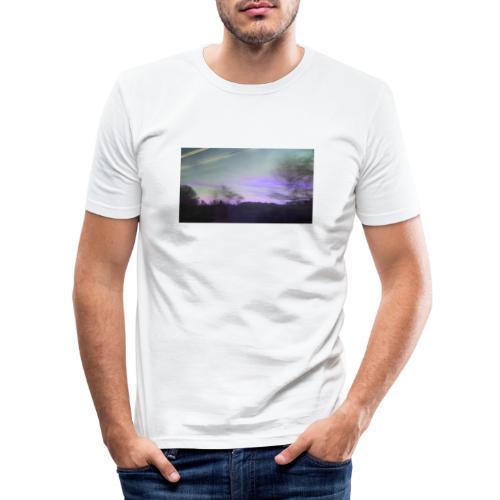 lilac sky - Herre Slim Fit T-Shirt