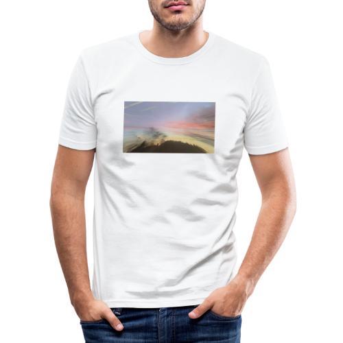 pink sky - Herre Slim Fit T-Shirt