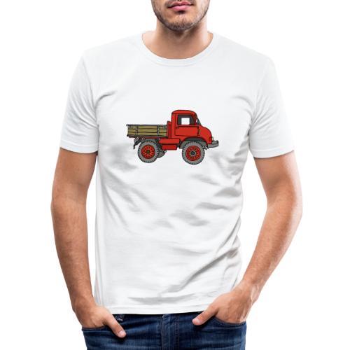 Roter Lastwagen, LKW, Laster - Männer Slim Fit T-Shirt