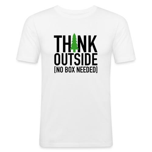 Think Outside - Men's Slim Fit T-Shirt