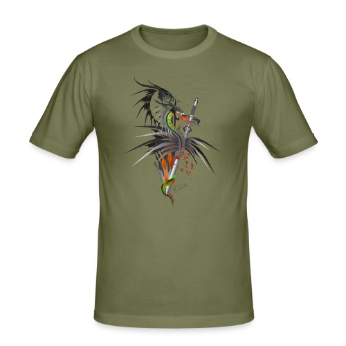 Dragon Sword - Drachenkampf - Männer Slim Fit T-Shirt
