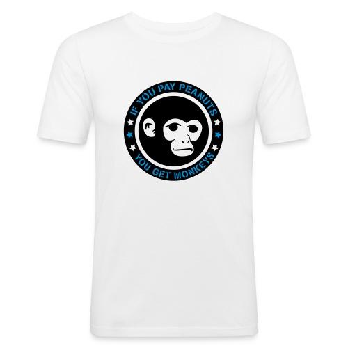 PAY PEANUTS - Männer Slim Fit T-Shirt