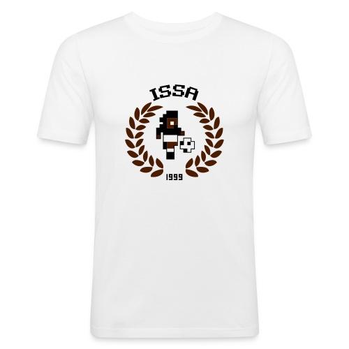ISSA A bg white - Men's Slim Fit T-Shirt