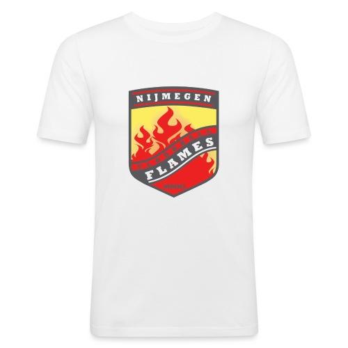 snapback pet rood/zwart combi - Mannen slim fit T-shirt