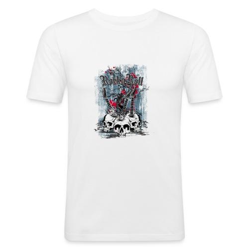 rock n roll skulls - Mannen slim fit T-shirt