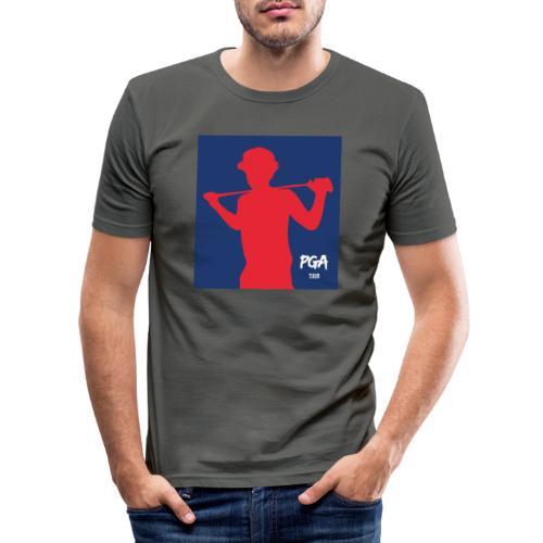 pga newbie blue - Miesten tyköistuva t-paita