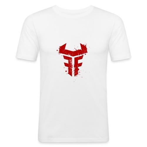 Fit Fight Bull Logo splatter distressed - Männer Slim Fit T-Shirt