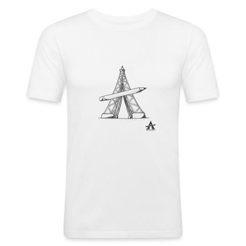 Tour Eiffel Crayon - T-shirt près du corps Homme