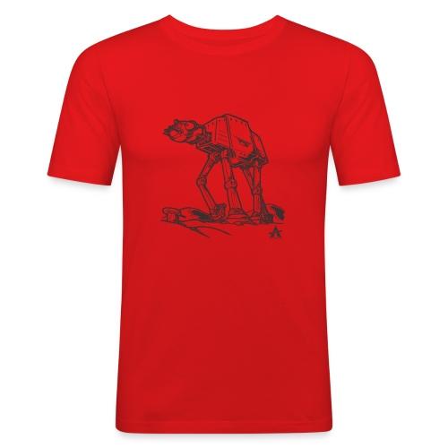 AT AT Walker ligne d'esquisse - T-shirt près du corps Homme