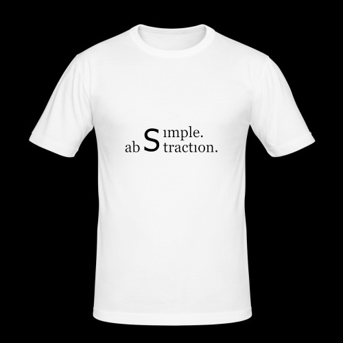 simple. abstraction. logo - Männer Slim Fit T-Shirt