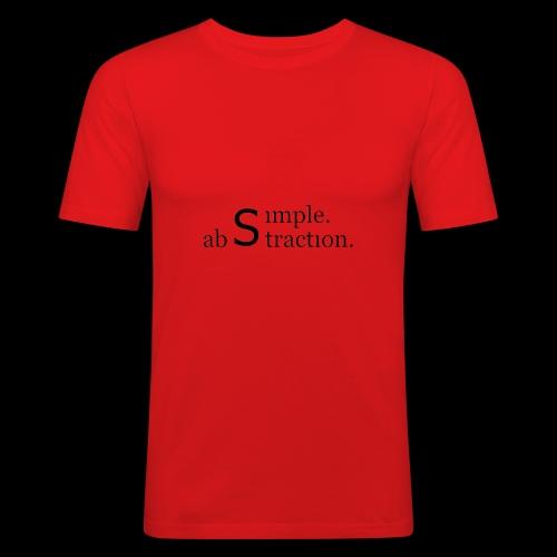 simple. abstraction. logo - Männer Slim Fit T-Shirt