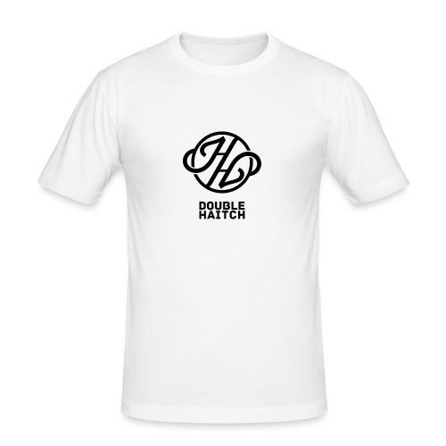 Double Haitch Crew Logo Black - Maglietta aderente da uomo