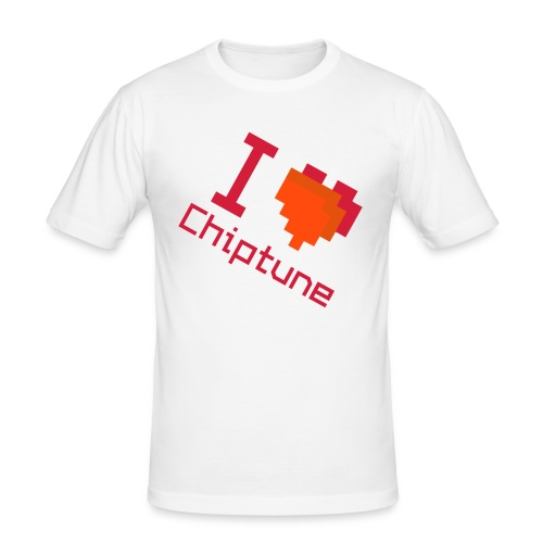 I heart chiptune - Men's Slim Fit T-Shirt