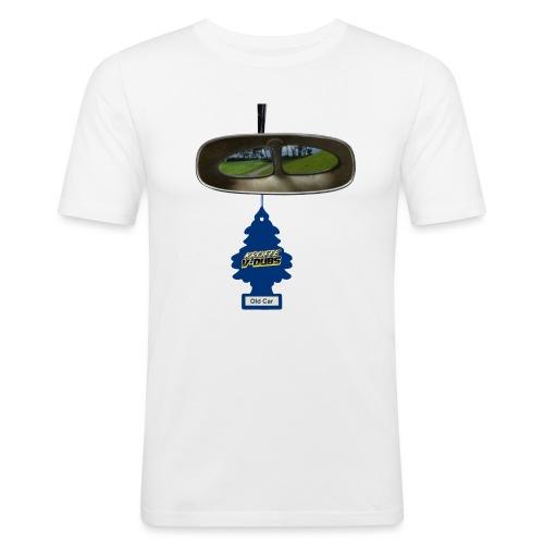 Look back with split vision. - Slim Fit T-shirt herr