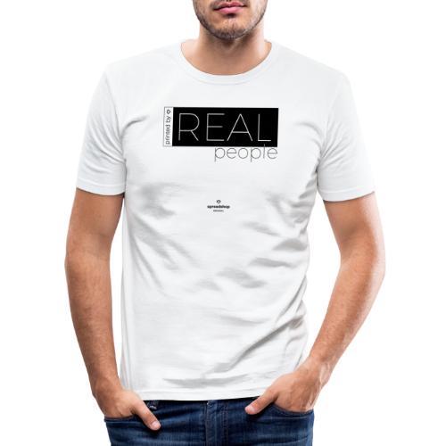 Real in black - Men's Slim Fit T-Shirt