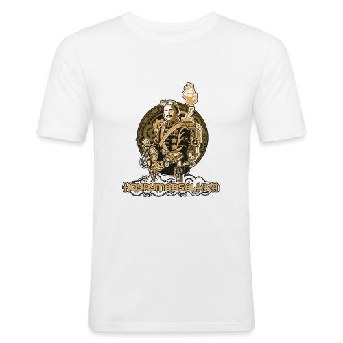 Höyrymarsalkan upea kangaskassi - Miesten tyköistuva t-paita