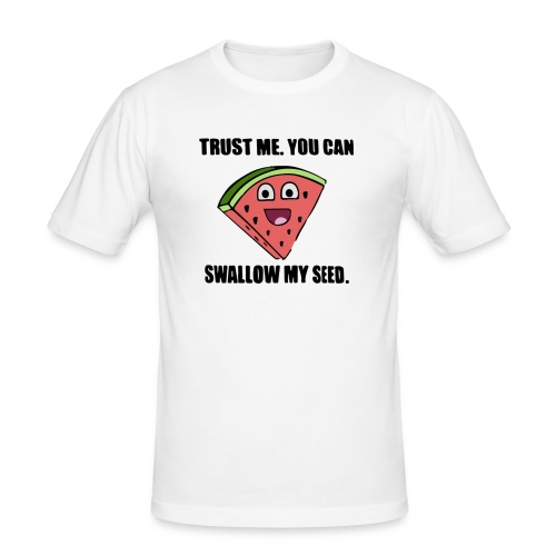 trust me you can swallow my funny offensive tshirt - Männer Slim Fit T-Shirt
