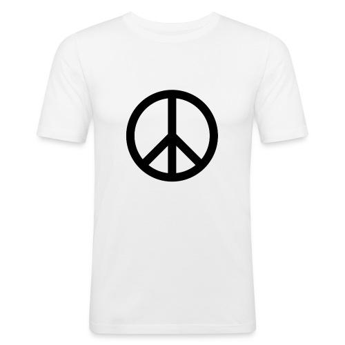 Peace Teken - Mannen slim fit T-shirt
