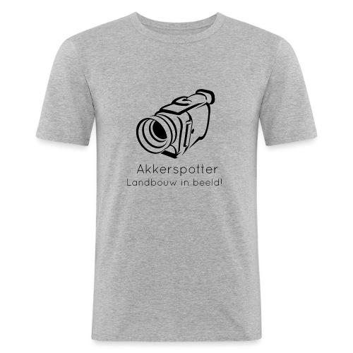 Logo akkerspotter - Mannen slim fit T-shirt