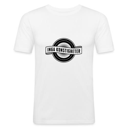 Inga Konstigheters klassiska logga (ljus) - Slim Fit T-shirt herr