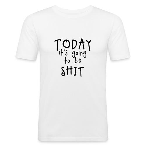 Shitty_day_en-png - Men's Slim Fit T-Shirt