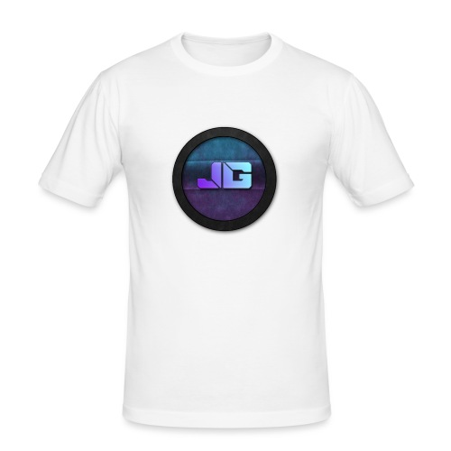 Pet met Logo - Mannen slim fit T-shirt