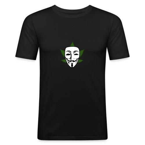 Anonymous - Mannen slim fit T-shirt