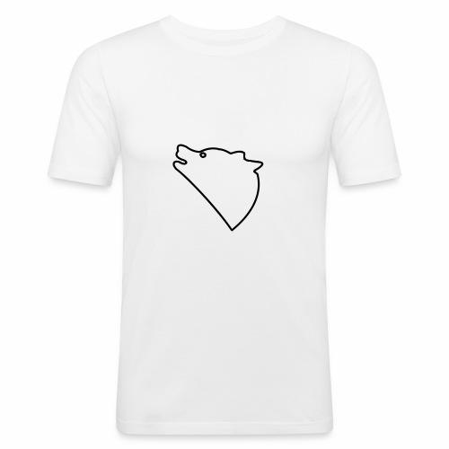 Wolf baul logo - Mannen slim fit T-shirt