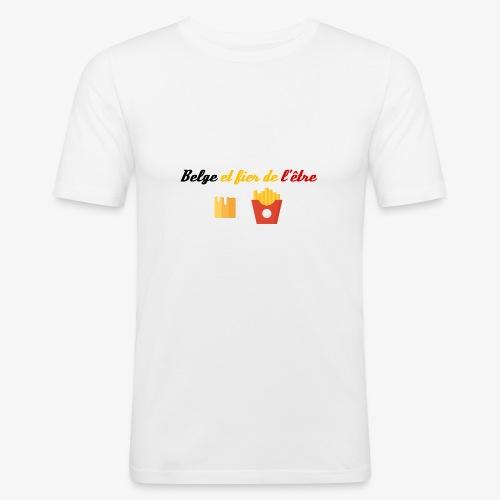 Belge et fier de l'être - T-shirt près du corps Homme