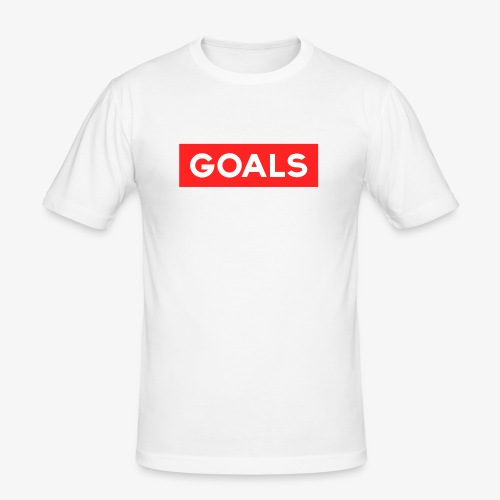 GOALS SQUARE BOX - Men's Slim Fit T-Shirt