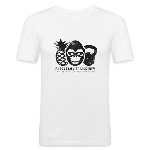 logo_4_final_anthrazit - Männer Slim Fit T-Shirt