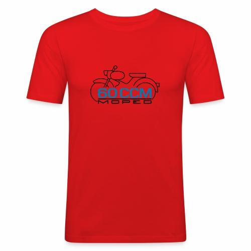 Moped sparrow 60 cc emblem - Men's Slim Fit T-Shirt