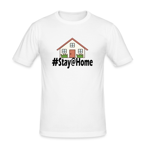 StayHome - Mannen slim fit T-shirt