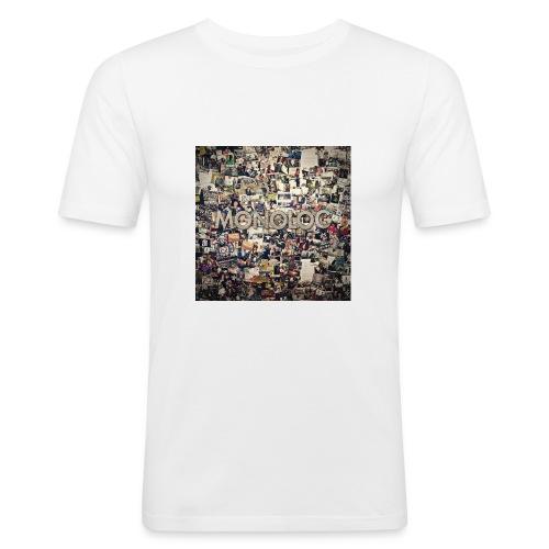 Monolog Cover - Männer Slim Fit T-Shirt