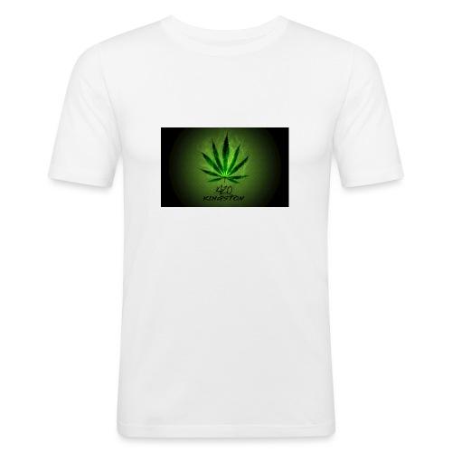 420 hash logo - Herre Slim Fit T-Shirt