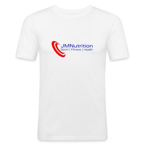 JMNutrition logo Red (tra - Men's Slim Fit T-Shirt