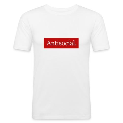 Antisocial. - Miesten tyköistuva t-paita