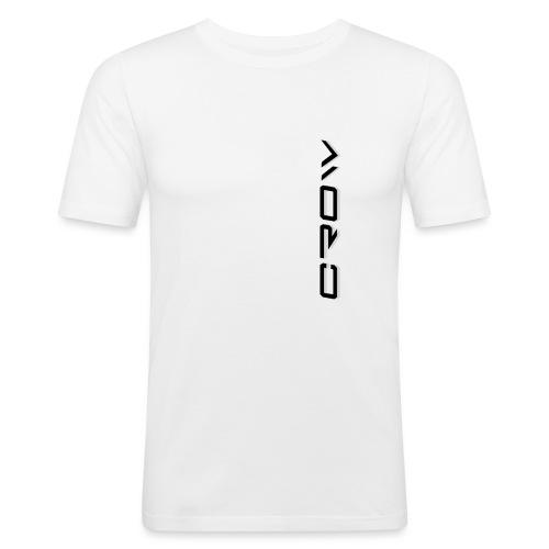 CROW TEXT VERTICAL BLACK T-SHIRT - Men's Slim Fit T-Shirt