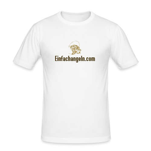 Einfachangeln Teamshirt - Männer Slim Fit T-Shirt