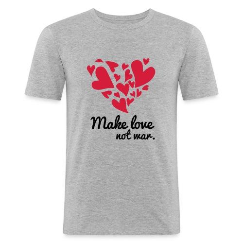 Make Love Not War T-Shirt - Men's Slim Fit T-Shirt